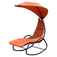 Hanging Swing Chaise Patio Lounge Chair