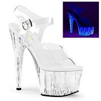 "Adore 708ULV White Neon 7"" High Heel"