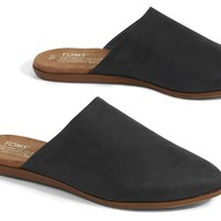 BLACK LEATHER WOMEN'S JUTTI MULES
