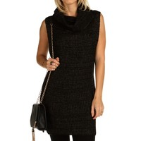 Sale-charcoal Turtleneck Sweater Tunic