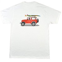 Wicked Landcruiser Tee in White by Chatham Ivy