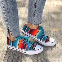 Flower Daily Canvas All Season Lace-Up Sneakers