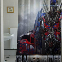 Transformers Age of Extinction Latest shower curtain that will make your bathroom adorable