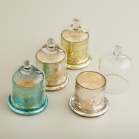 Mercury Glass Scented Filled Candle Cloches, Set of 4 - World Market