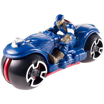 Hot Wheels Marvel Avengers Motorcycle with Rider (Color/Styles May Vary)