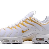 Nike Air Max Plus Tn Ultra Sport Shoes Casual Sneakers - Gold White