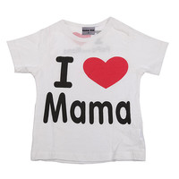I Love Papa Mama Baby Children' Clothing T-shirts for girls boys Kids children Clothes for Summer Style tshirts brand T shirts