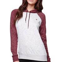 Volcom Lived In Pullover Hoodie - Womens Hoodie - Red