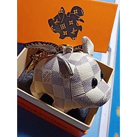 Louis Vuitton LV Cute Pig Bag Charm And Key Holder White