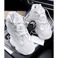 Onewel Adidas Yeezy 500 Boost Sneakers Sports Shoes Daddy thick soles More Color Optional White