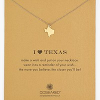 Women's Dogeared 'Reminder - I Heart Texas' Pendant Necklace