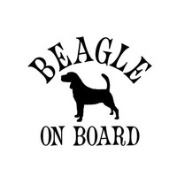 10pcs/lot Beagle On Board Beagle Small Animal Pet Dog Car Stickers Reflective Waterproof Car Decal