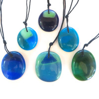 Glass Necklace Watercolors by The Wild Willows
