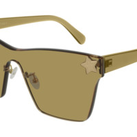 Stella McCartney - SC0169S Gold Sunglasses / Smoke Lenses