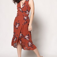 Gentle Fawn Esmeralda Floral Print Wrap Dress