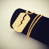 Jewelry New Arrival Shiny Stylish Gift Hip-hop Club Necklace [8979457540]