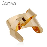 Comiya Hot Selling New Color And Silver Plated Bracelets Bangles Zinc Alloy Abstract Arm Cuff Pulseira Punk Charming Jewelry
