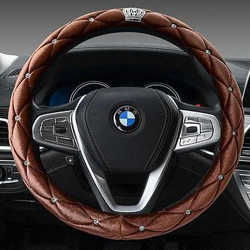 New style plush diamond-encrusted handle cover winter warm non-slip female steering wheel cover Stockings Shoes Dress Bikini bag