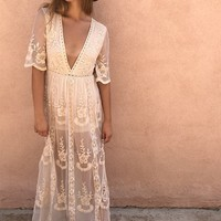 Morocco Sands Lace Maxi Dress