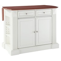 Crosley Drop Leaf Breakfast Bar Kitchen Island - White