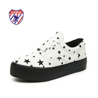 M.GENERAL New 2016 Women Fashion Canvas Casual Shoes Lace-Up Low-cut Mixed Colors Star Spring Autumn Solid Zapatos Mujer MG617