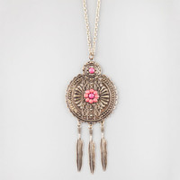 Full Tilt Coral Pendant Necklace Coral One Size For Women 26177631301
