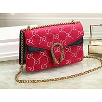 Gucci Fashion Colourful Single Shoulder Bag Lady Shopping Bag Red