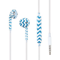 MYBAT Earbud Stereo Handsfree Universal Headset (3.5mm) - Blue Chevron