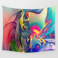 Sunrise Wall Tapestry by Klara Acel