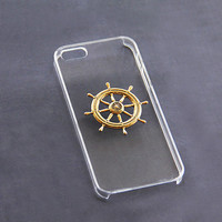 Clear iPhone 5c Case Transparent iPhone 6 Case Nautical Phone Case Nautical Phone 6 Plus Skin Helm iPhone 4/4s Stylish Simple iPhone Cases