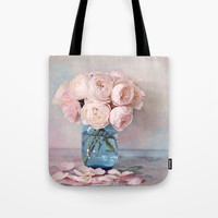 English Roses Tote Bag by sylviacookphotography