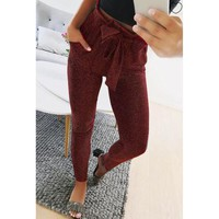 Casual Slim Elastic Waist Pants