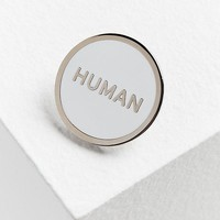 Word For Word Human Pin | Urban Outfitters