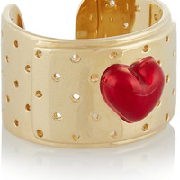 Alison Lou - Bandaid 14-karat gold and enamel ring
