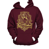 Gryffindor House Crest, Harry Potter Hanes Hoodie,Nerd Girl Tees,Geek Chic,pop culture