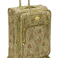 Amelia Earhart Luggage Versailles Collection Gold 24 Inch Expandable 360 Upright, Gold Tapestry, One Size
