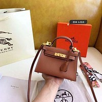 1061 Hermes Fashion Classic Handle Mini Kelly Bag Size 19-14cm