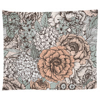 Muted Floral Tapestry