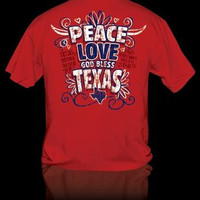 Sweet Thing Funny Peace Love Texas Girly Girlie Bright T-Shirt