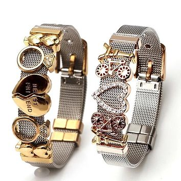 Colorful Stainless Steel Mesh Bracelets