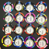 Free Shipping lady lokai bracelet silcone lokai bracelet 9 colors in High quality