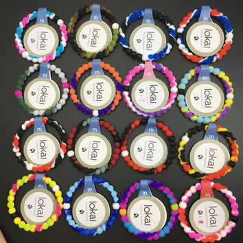Free shiping fashion lady lokai bracelet for Christmas gift in high qulaity silicone