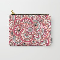 Coral, Peach & Magenta Wonderland Carry-All Pouch by Sarah Oelerich