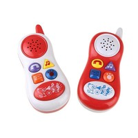 Simulation Music Phone Early Education Enligh Mobile Phone Model Sound Toys Infant Electronics Musical Box Toys Baby Kids