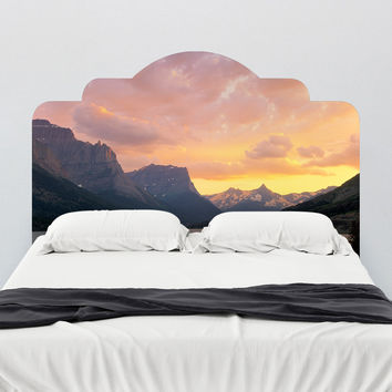 Paul Moore's St. Mary's Lake, Glacier National Park Headboard wall decal