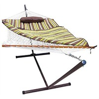 Rope Hammock Set with Stand Pad & Pillow 55 x 144-inch - Desert Stripe