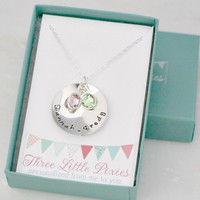 Personalized Pet Lover Necklace - Cat Necklace - Dog Necklace - Hand Stamped Necklace