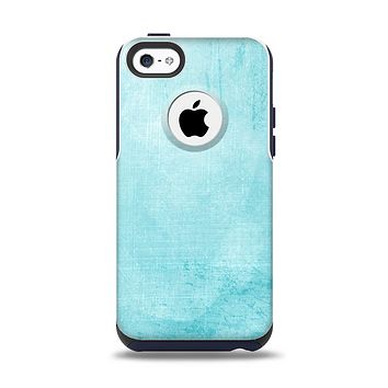 The Vintage Blue Textured Surface Apple iPhone 5c Otterbox Commuter Case Skin Set