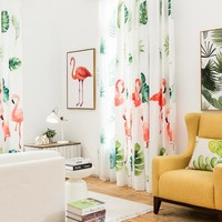 Drapes with Tropical Island