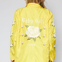 DCCKJH6 Kendall and Kylie Embroidered Coach Jacket